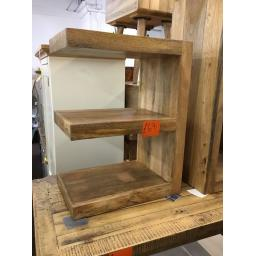 MANGO WOOD E SHELFING UNIT.