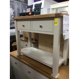 LIGHT GREY CONSOLE TABLE!