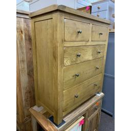 Country Oak 2+3 Drawer Chest