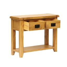 CONSOLE TABLE 2 DRAW – REAL OAK