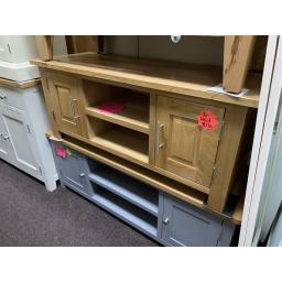 OAK Wide TV Cabinet with 2 Doors - up to 53""
