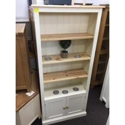 PAINTED Display Unit in cream and Pine