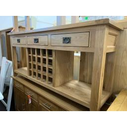 OAK Extra Large Wine Console