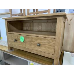 OAK Small TV Stand