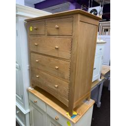 real oak 2 over 3 Chest of Drawers