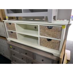 "FARMHOUSE PAINTED Widescreen Unit up to 62"" - Ivory"