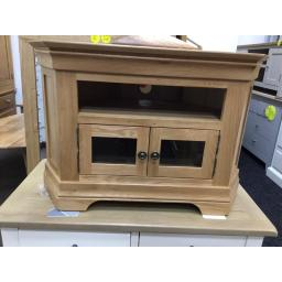 Real Oak Ready Assembled Corner TV Unit - fits up to 50 inch TV