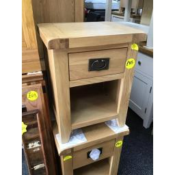 OAK 1 DRAWER BEDSIDE TABLE!