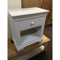 WHITE WIDE BEDSIDE TABLE!