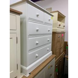 PAINTED 2 Over 3 Chest of Drawers in white