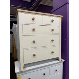 PAINTED 2 Over 3 Chest of Drawers Cream