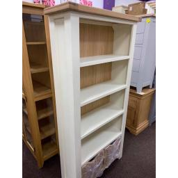 PAINTED Large Bookcase in ivory