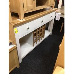Light grey large wine rack console