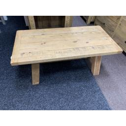 Reclaimed Solid Pine Trestle Coffee Table