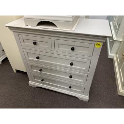 2+3 Grey Chest of Drawers in Painted Hardwood