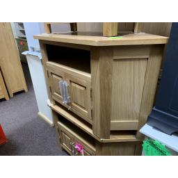 Real OAK Corner TV and DVD Cabinet - up to 47""