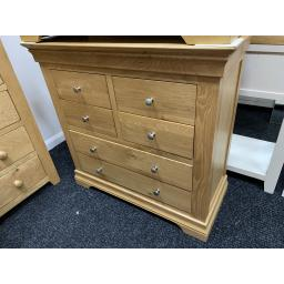 Real OAK 4+2 Chest of Drawers