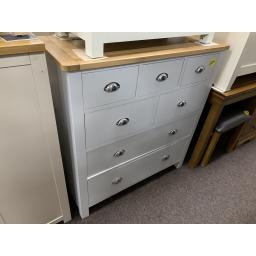 GREY 7 Drawer Chest of Drawers