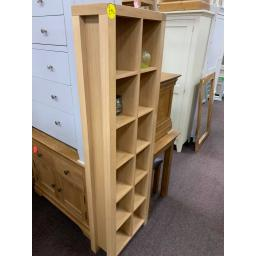 Light Real oak Tall Narrow CD/DVD Bookcase