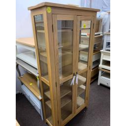 Real oak Glass Display Cabinet