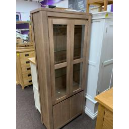 Dark Solid wood Display Cabinet
