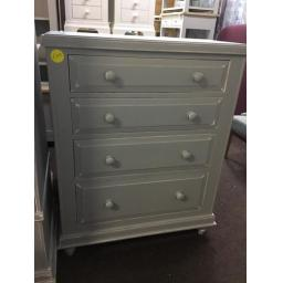 GREY PAINTED 4 Drawer Tall Chest