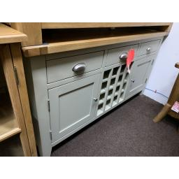 FRENCH GREY Sideboard with Wine Rack