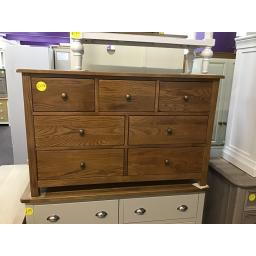 Real Rustic OAK Low and Wide Chest