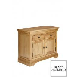 Solid Oak 2 Door 2 Drawer Double Sideboard/French Inspired Oak Double Sideboard/Living Room Furniture/Home Furniture