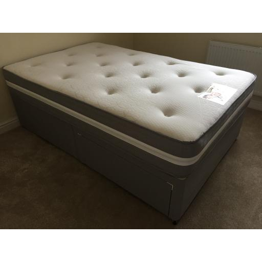 Knight Flex Divan Bed & Luxury Memory Foam Mattress- Choice of size with 2 drawers