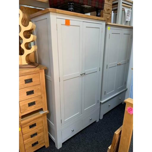 Cottage Grey Wardrobe