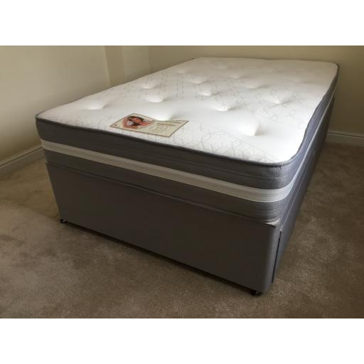 Knight Flex Divan Bed & Luxury Memory Foam Mattress
