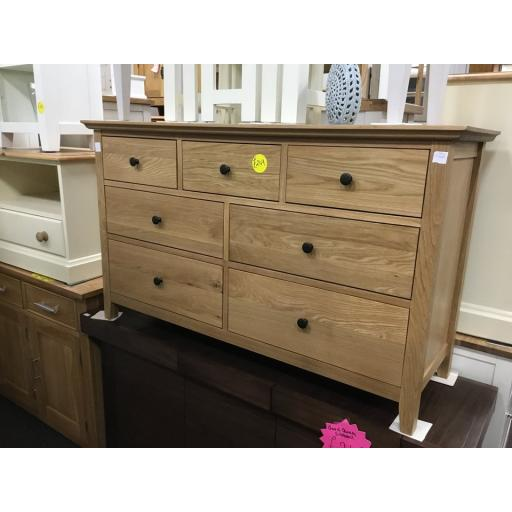 Hereford rustic Real oak 3 over 4 chest of drawers