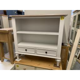 PAINTED Small and Wide Bookcase
