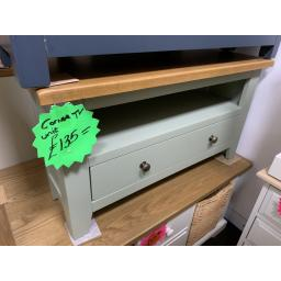 GREEN PAINTED Corner TV Unit Up To 40""