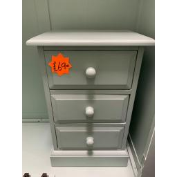 duck egg blue PAINTED 3 Drawer Bedside