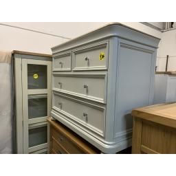 GREY PAINTED 2+2 Chest