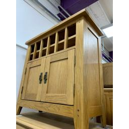 Real Oak Rustic Mini Bar