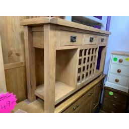 OAK Console Table with Wine Rack