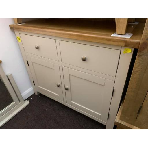 HAMPSHIRE SMALL SIDEBOARD – GREY/OAK