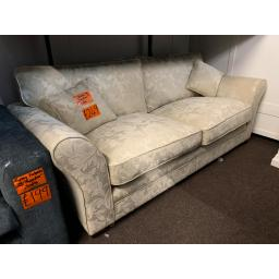 3 Seater Cream Sofa With a Floral Patten Style