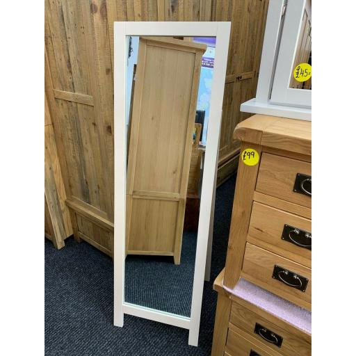 camden Painted Pine & Ash Cheval Mirror 1550mm X 480mm