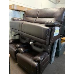 Brown Leather 3 seater sofa + 1 + 1