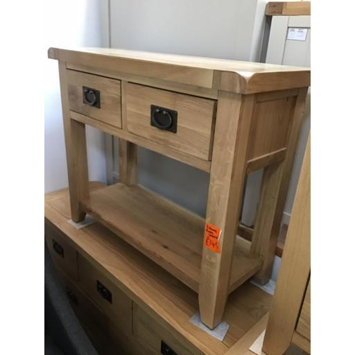 Good quality oak console table