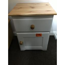 Grey Painted bedside with Pine top.