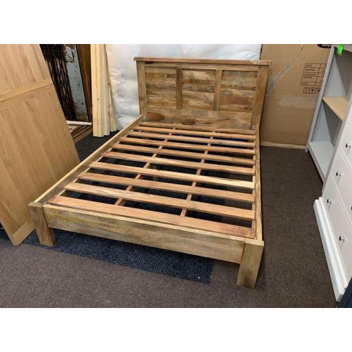 Mango wood Bed Frame double 4 ft 6