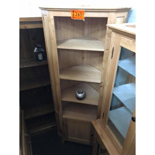 Oak Corner Display Unit
