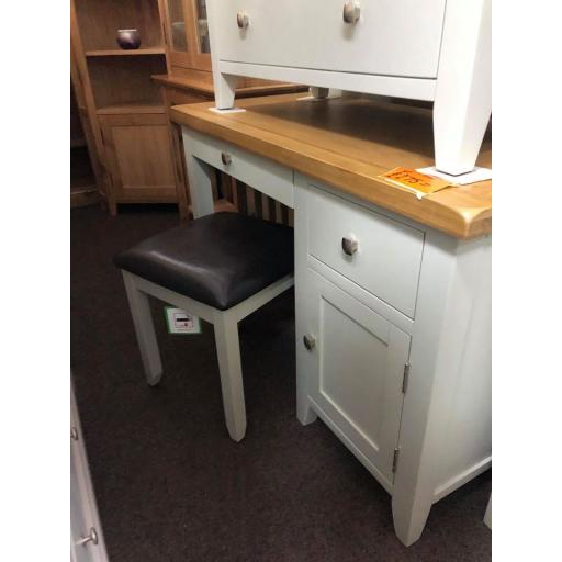 Grey Dressing Table with Stool