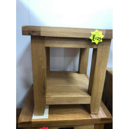 Real Oak Lamp Table