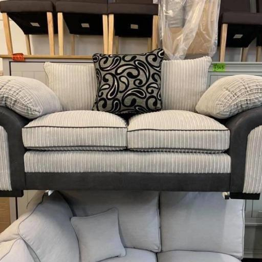 2 Seater Jumbo cord Grey Sofa